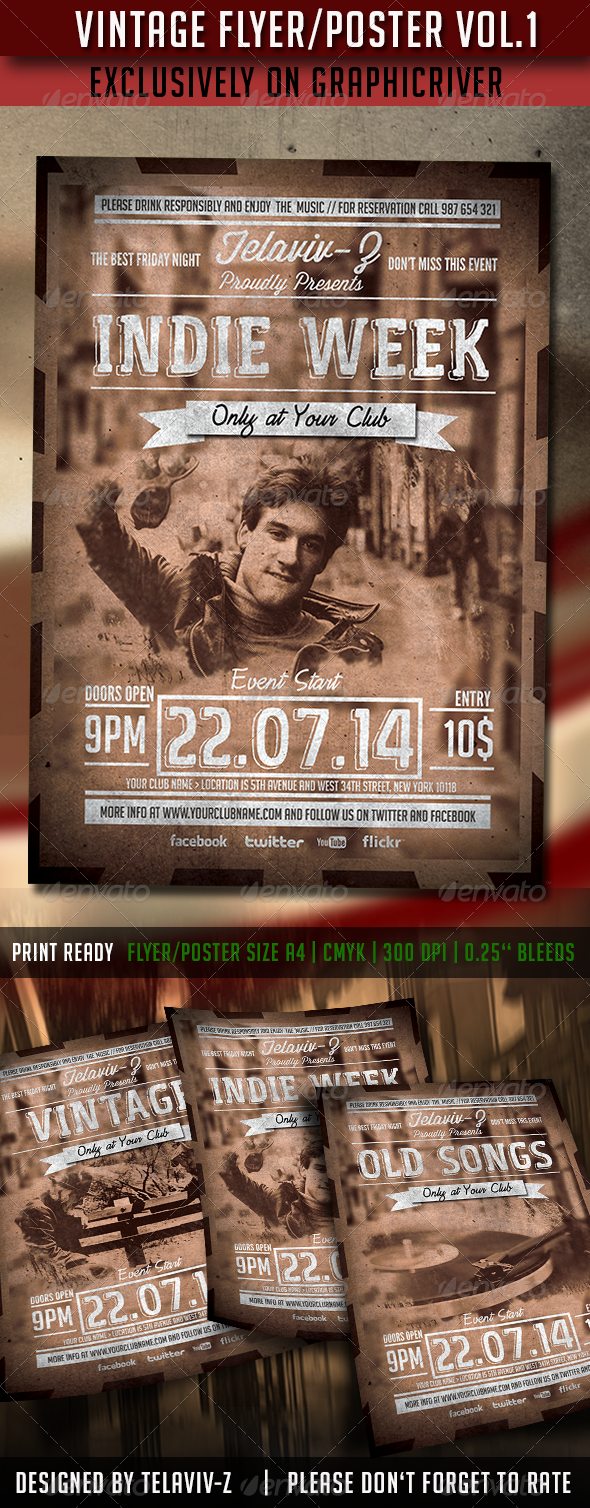 GraphicRiver Vintage Flyer Poster Vol.1 8258465