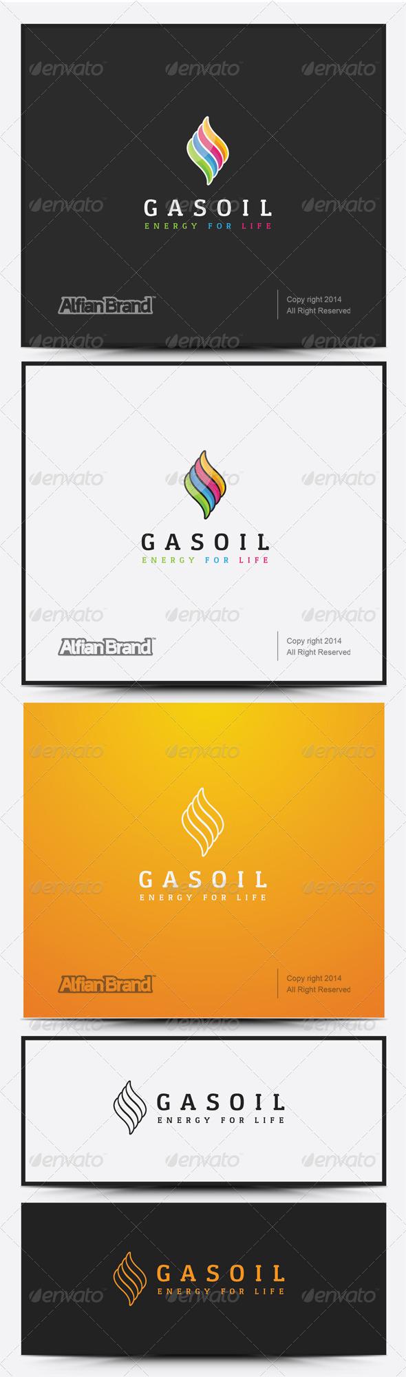 GraphicRiver Gas Oil Logo 8258468