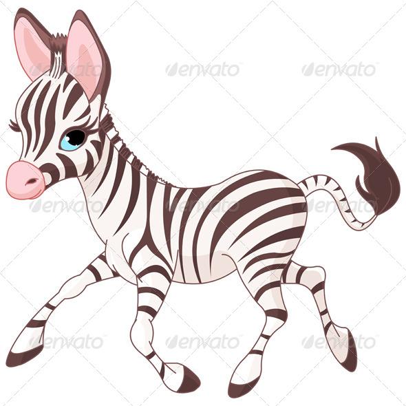 GraphicRiver Running Baby Zebra 8258491