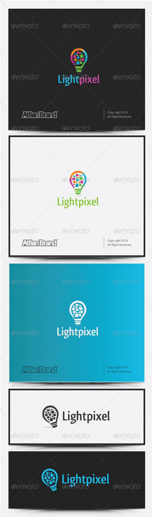 GraphicRiver Light Pixel Logo 8258493