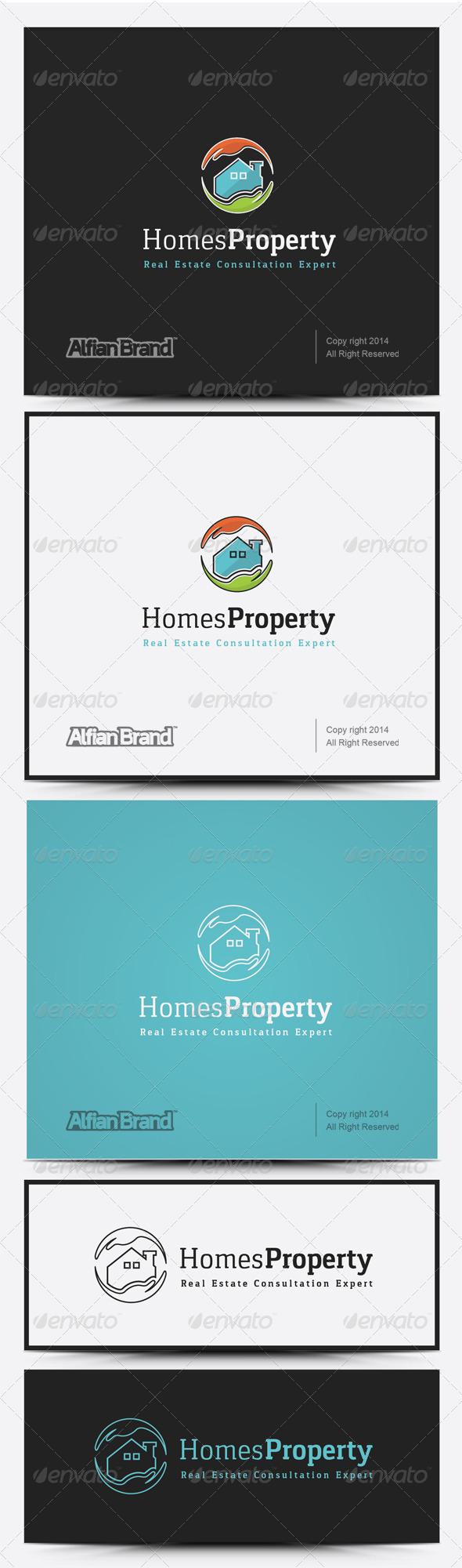 GraphicRiver Homes Property Logo 8258585