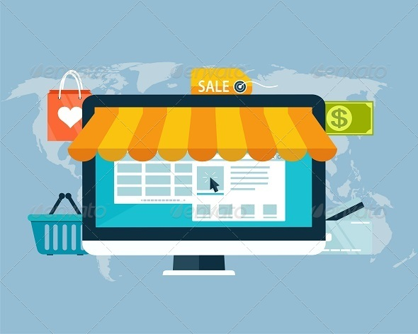 GraphicRiver Concept of Online Shopping by Electronic Funds 8258595