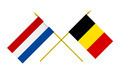 Flags of Netherlands and Belgium, 3d Render, Isolated on White - PhotoDune Item for Sale