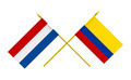 Flags of Colombia and Netherlands, 3d Render, Isolated on White - PhotoDune Item for Sale