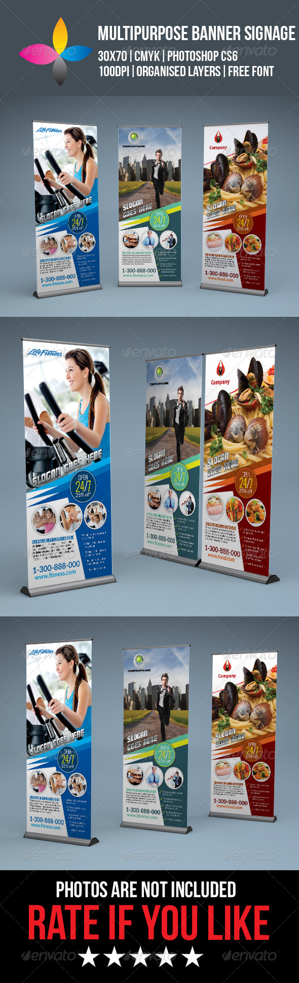 GraphicRiver Multipurpose Roll Up Banner Signage 8258783