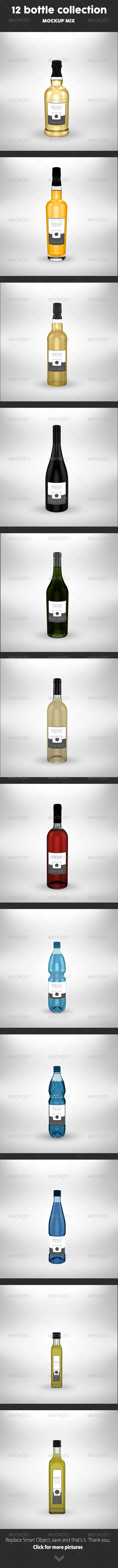 12 Bottle Collection Mock Up