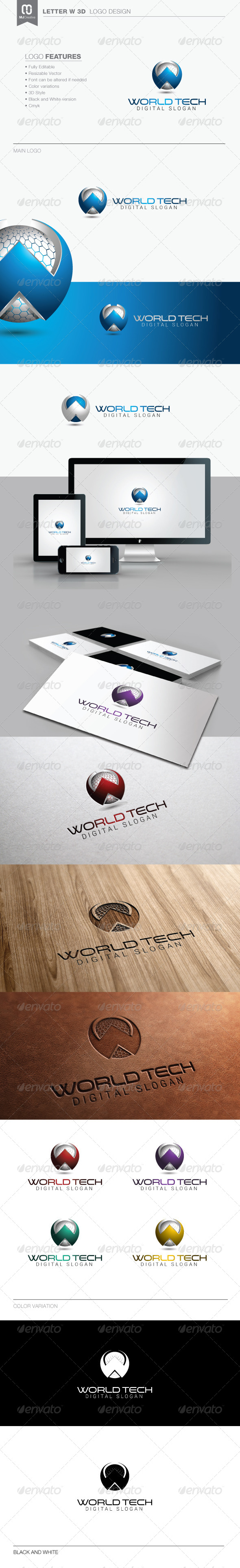 GraphicRiver Letter W 3D Logo 3 8258892
