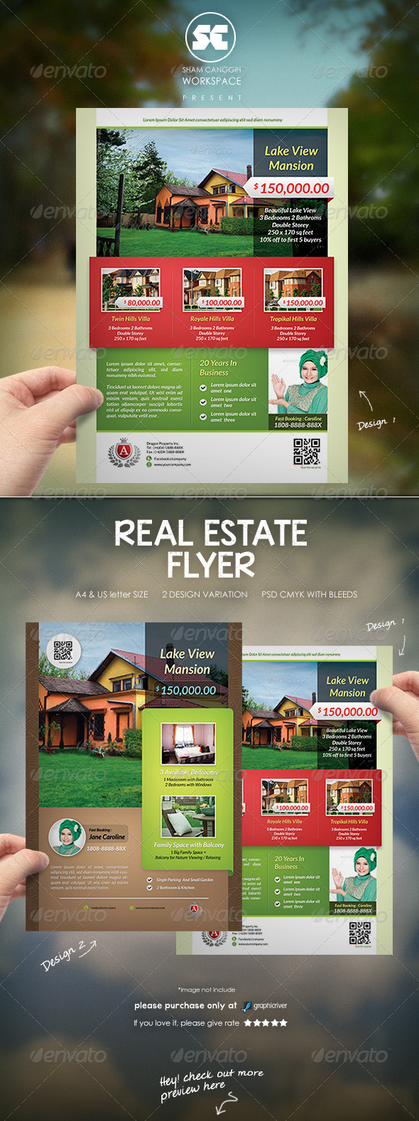GraphicRiver Real Estate Flyer Magazine Ads 8258933