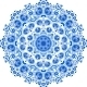 Blue Floral Ornament Circle - GraphicRiver Item for Sale