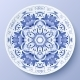 Blue Floral Ornament Decorative Plate - GraphicRiver Item for Sale