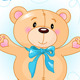 Teddy Bear Waving Hello - GraphicRiver Item for Sale
