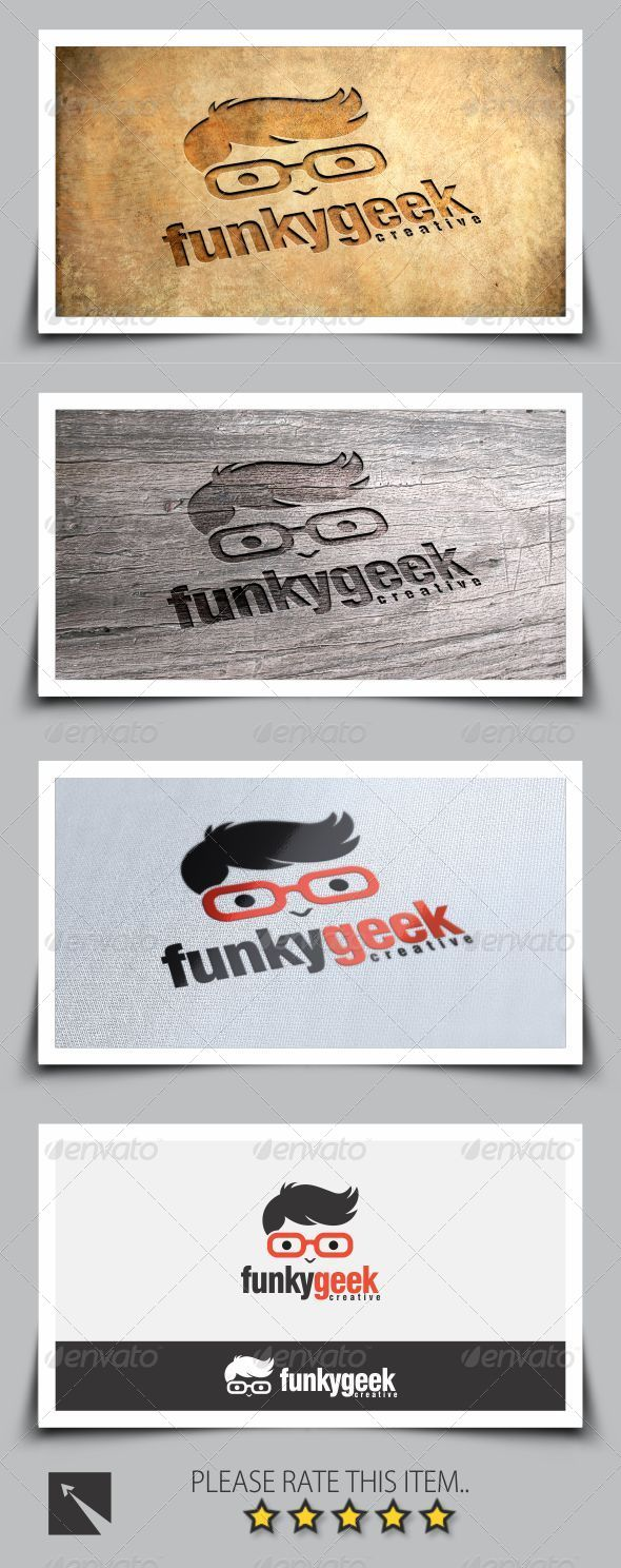 GraphicRiver Funky Geek Logo Template 8259321