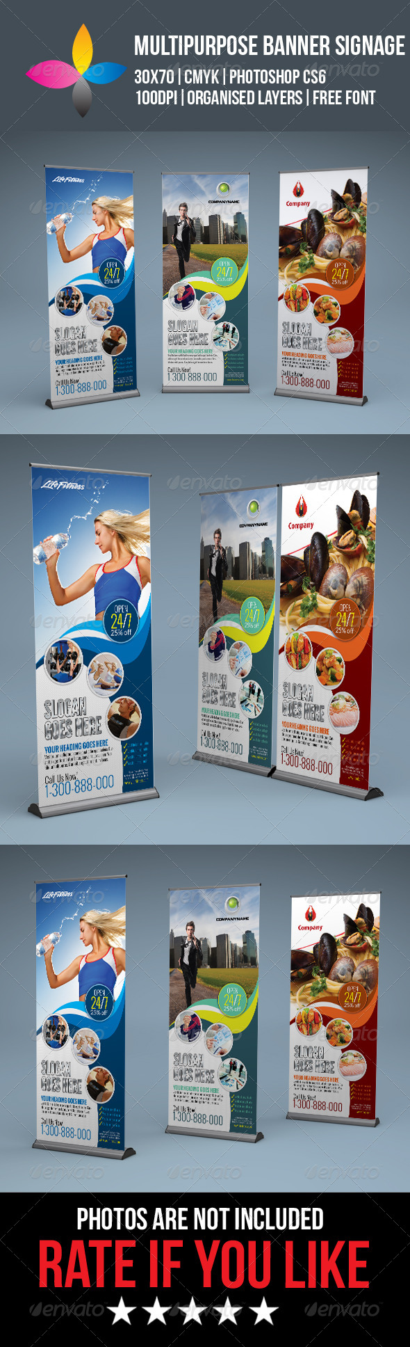 GraphicRiver Multipurpose Roll Up Banner Signage 8259356