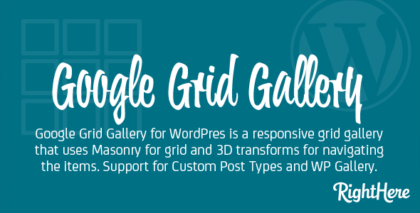 CodeCanyon Google Grid Gallery for WordPress 8259401