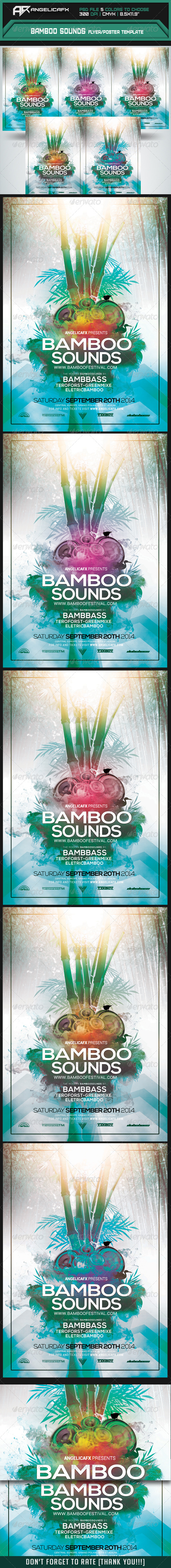 GraphicRiver Bamboo Sounds Flyer Poster Template 8259411