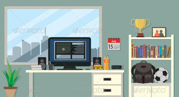 GraphicRiver Flat Room Design 8259455