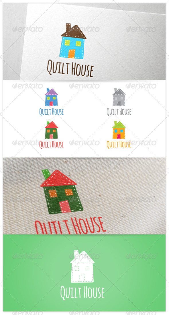 GraphicRiver Quilt House Patch Craft DIY Logo 8259478