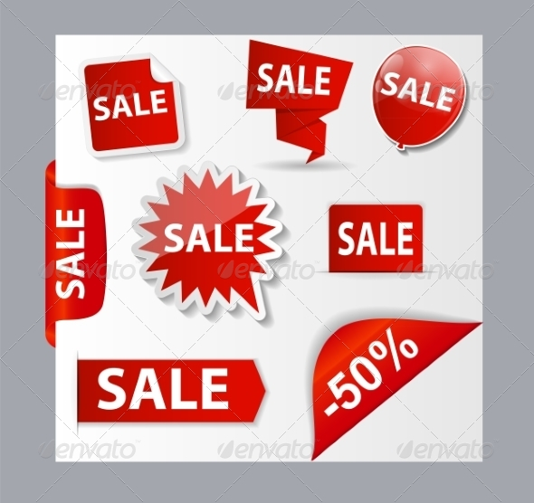 Sale Banner Set with Place for Your Text