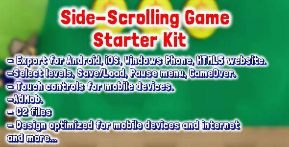 CodeCanyon Side Scrolling Game Starter Kit 8259587