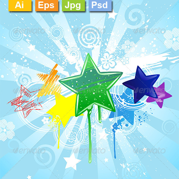 GraphicRiver Painted Stars 8259591