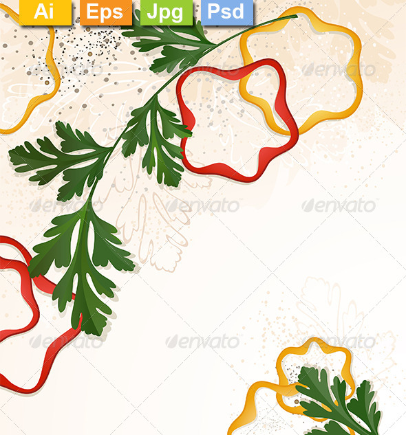 GraphicRiver Parsley with Chopped Peppers 8259598