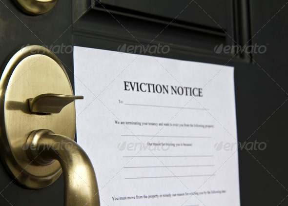 Stock Photo - PhotoDune Eviction Notice Letter on Front Door 853764