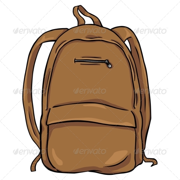 GraphicRiver Vector Cartoon Backpack 8259661