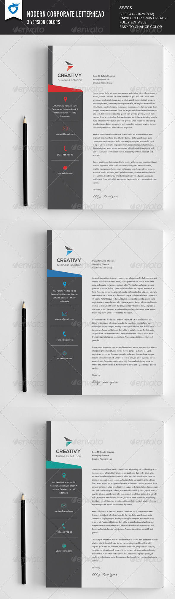 GraphicRiver Modern Corporate Letterhead 8254492