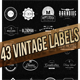43 Mega Retro Vintage, Logo, Badge and Insignias  - GraphicRiver Item for Sale