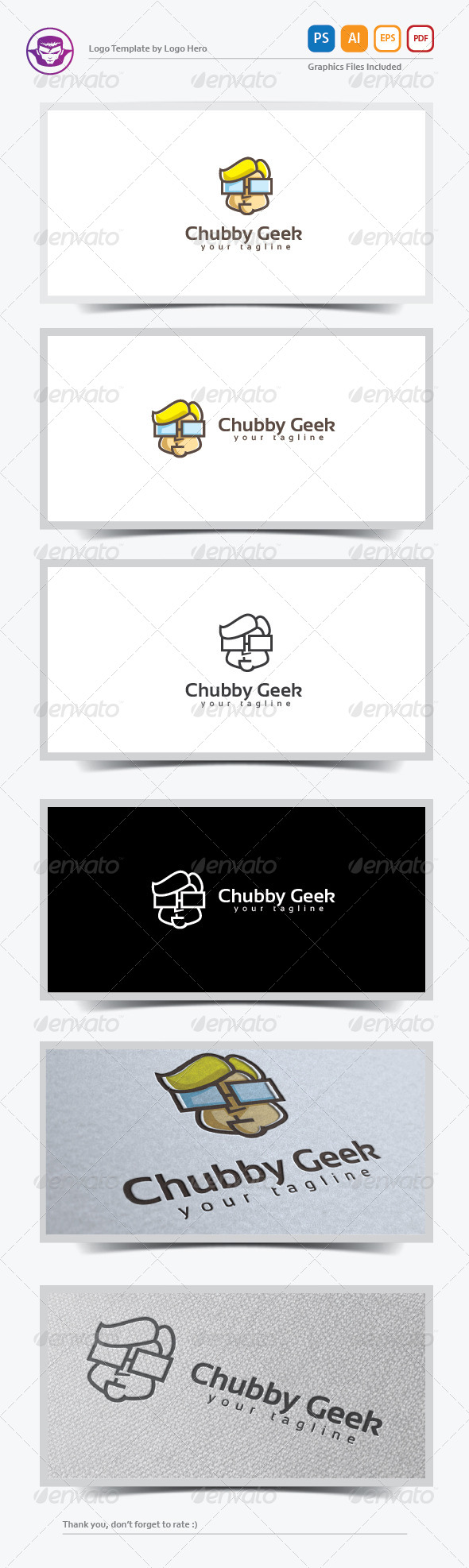 GraphicRiver Chubby Geek Logo Template 8259740
