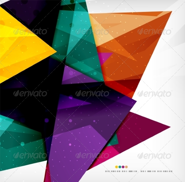 GraphicRiver Modern 3D Glossy Overlapping Triangles 8259746