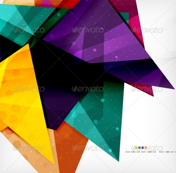 GraphicRiver Modern 3D Glossy Overlapping Triangles 8259747