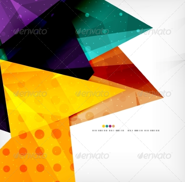 GraphicRiver Modern 3D Glossy Overlapping Triangles 8259748