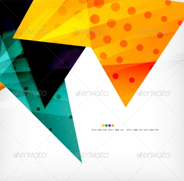 GraphicRiver Modern 3D Glossy Overlapping Triangles 8259749