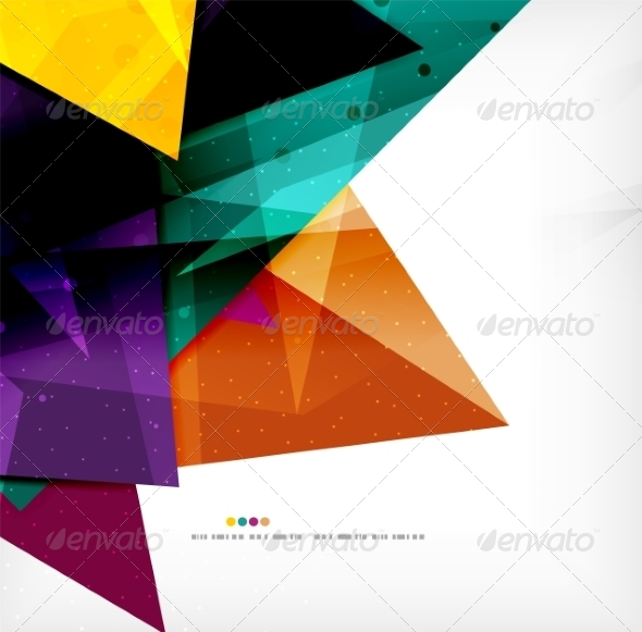GraphicRiver Modern 3D Glossy Overlapping Triangles 8259750