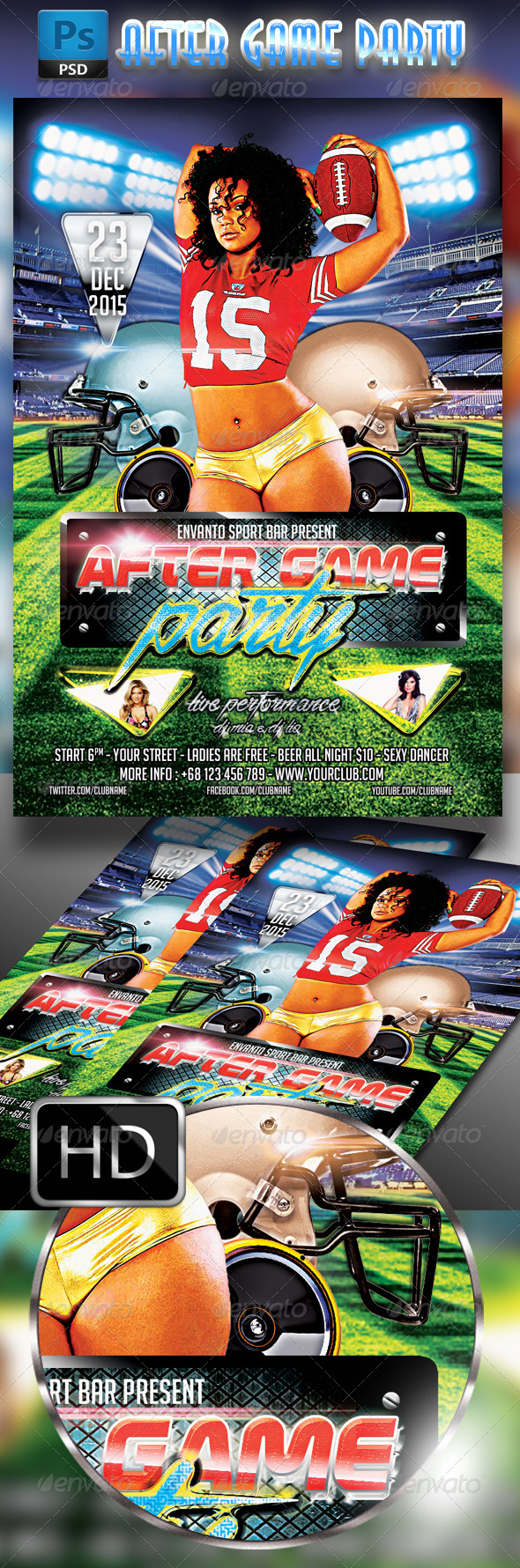 GraphicRiver After Game Party Flyer Template 8259751