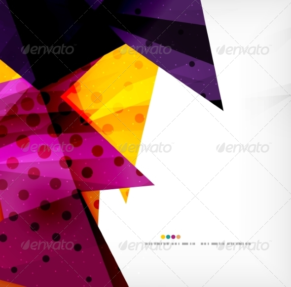 GraphicRiver Modern 3D Glossy Overlapping Triangles 8259753