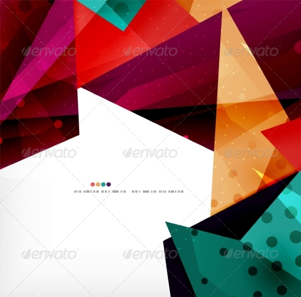 GraphicRiver Modern 3D Glossy Overlapping Triangles 8259754