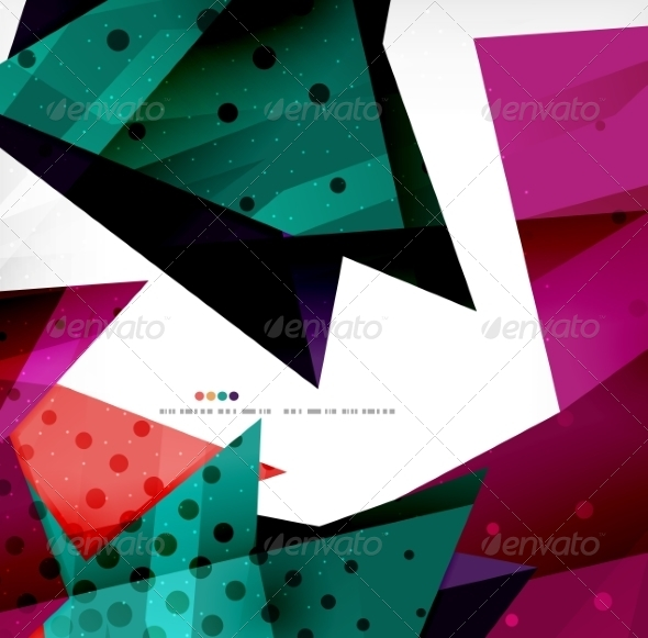 GraphicRiver Modern 3D Glossy Overlapping Triangles 8259755