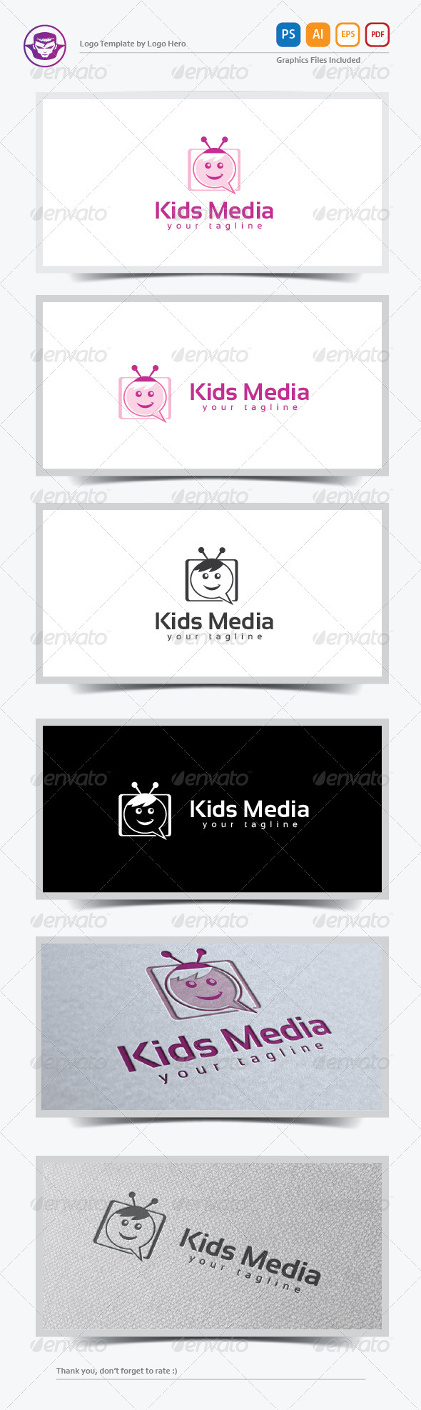 GraphicRiver Kids Media Logo Template 8259771
