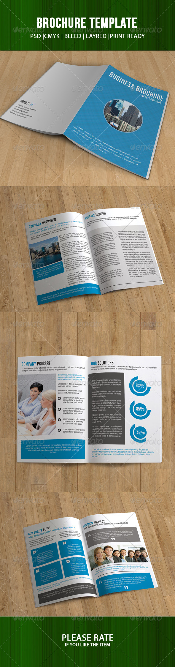 GraphicRiver Bifold Business Brochure-V90 8259806
