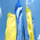 Blue And Yellow Flags - VideoHive Item for Sale