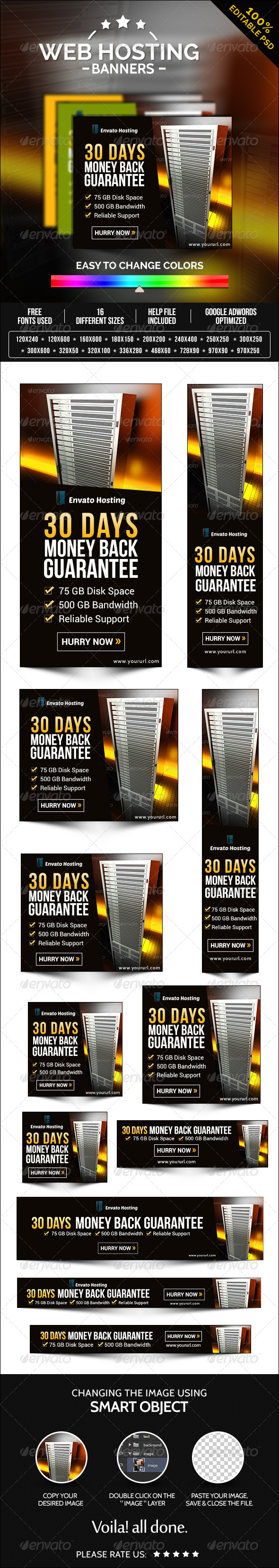 GraphicRiver Web Hosting Banners 8260077