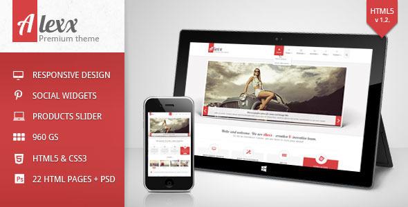 Alexx - Multipurpose HTML5 Theme - Portfolio Creative