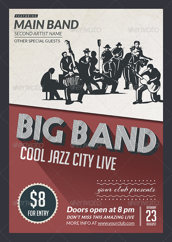 GraphicRiver Big Band Jazz Flyer 8261773