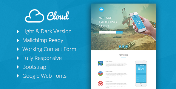 Beta - Coming Soon Responsive Template - 4