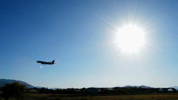 Airplane Flying at Low Altitude