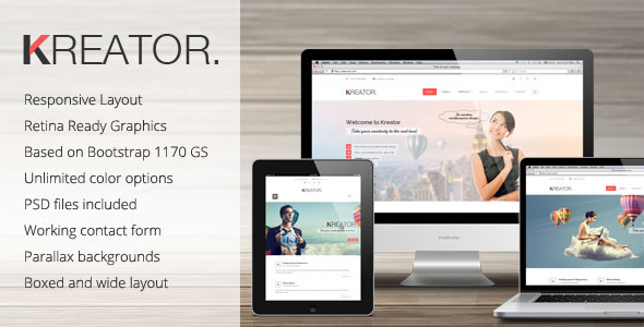 Kreator Ultimate HTML Template - Corporate Site Templates