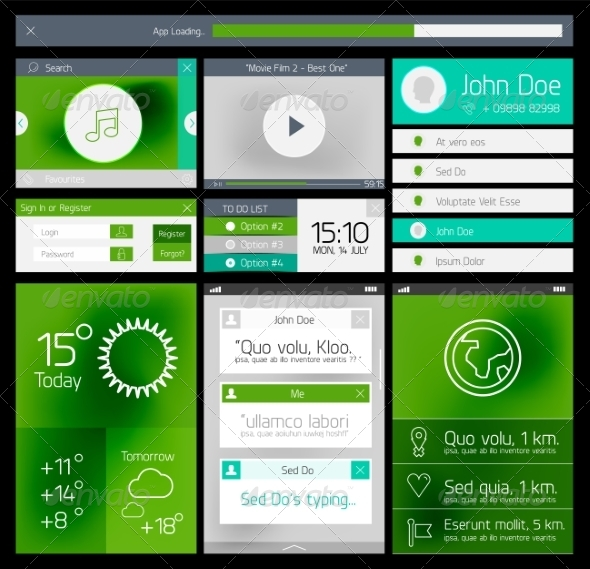 GraphicRiver Ui Flat Web and Mobile Element 8264073