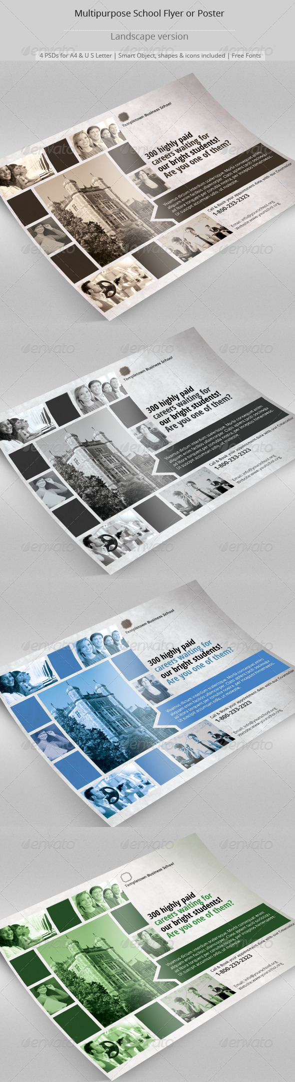 GraphicRiver Multipurpose School Flyer or Poster 8204401